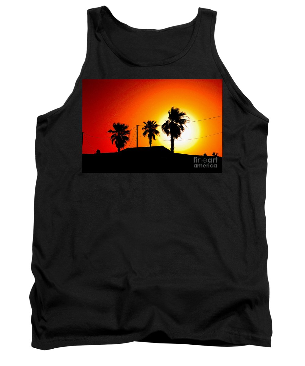 Sunset Tank Top featuring the photograph Sunset In Port Aransas Texas by Susanne Van Hulst
