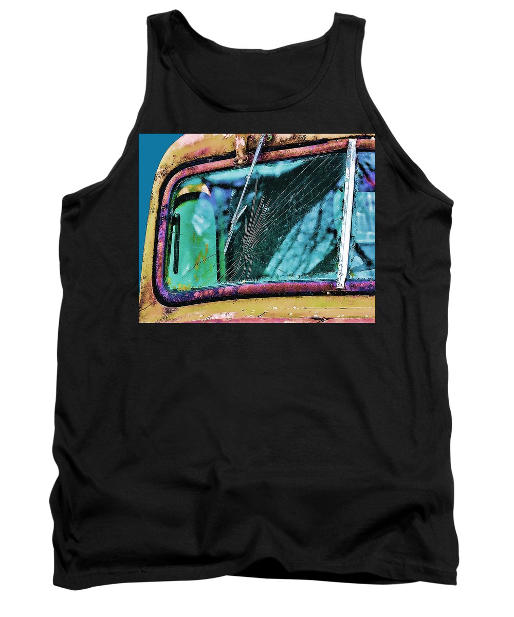 Truck Tank Top featuring the photograph Survivor by Terry Fiala