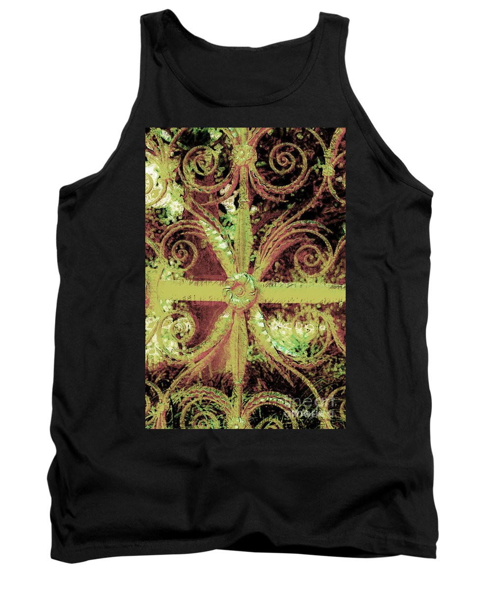 Iron Gate Tank Top featuring the photograph Sword Gate by Donna Bentley