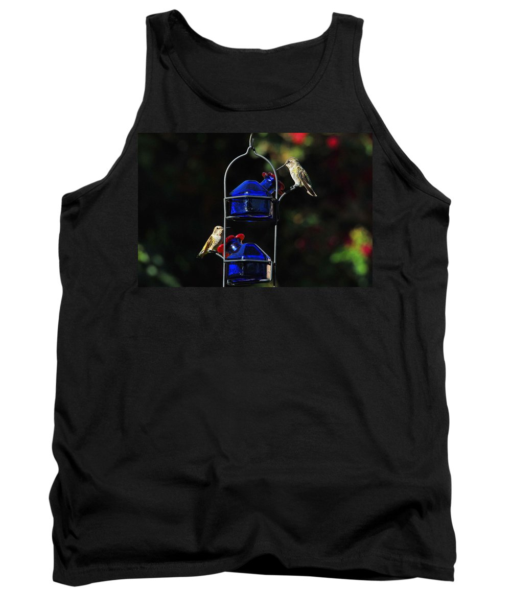 Hummers Tank Top featuring the photograph Table For Two by Lynn Bauer