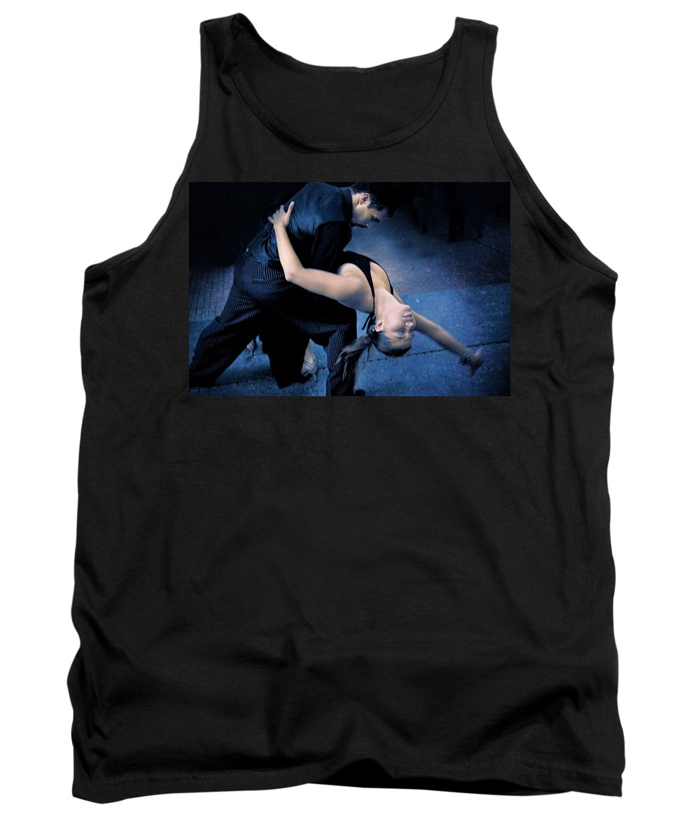 Tango Tank Top featuring the digital art Tango Night by Diane Dugas