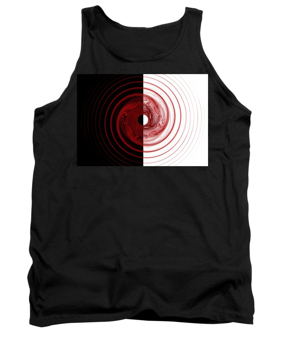 Fractal Tank Top featuring the digital art Target by Betsy Knapp
