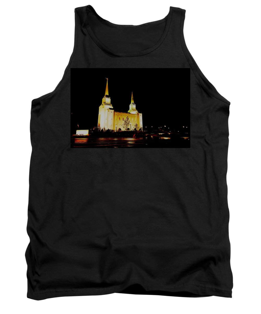 Archetecture Tank Top featuring the photograph Temple Of The Later Day Saints by Jeff Swan
