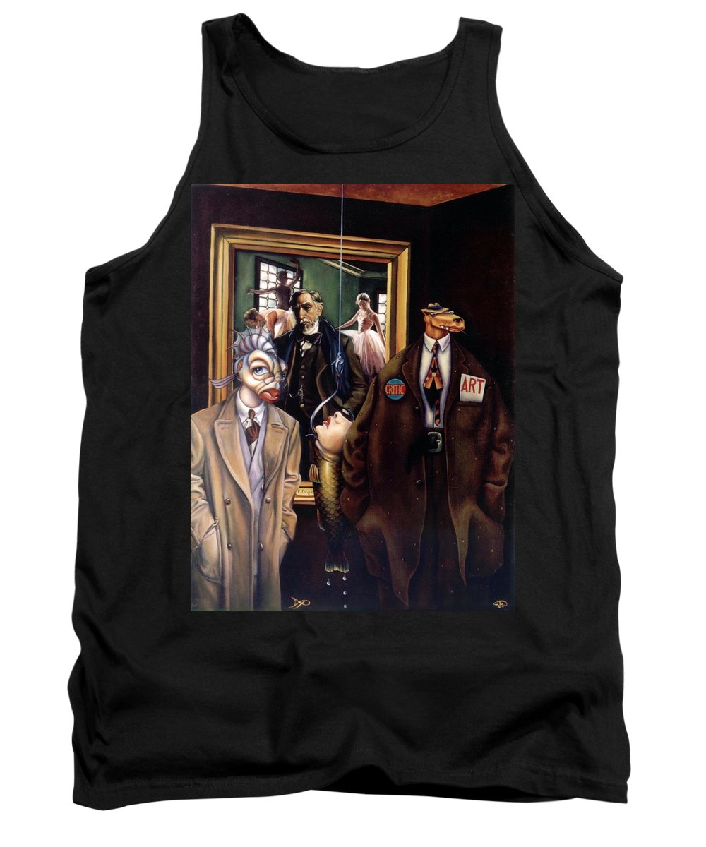 Coyote Tank Top featuring the painting The Art Critic by Patrick Anthony Pierson