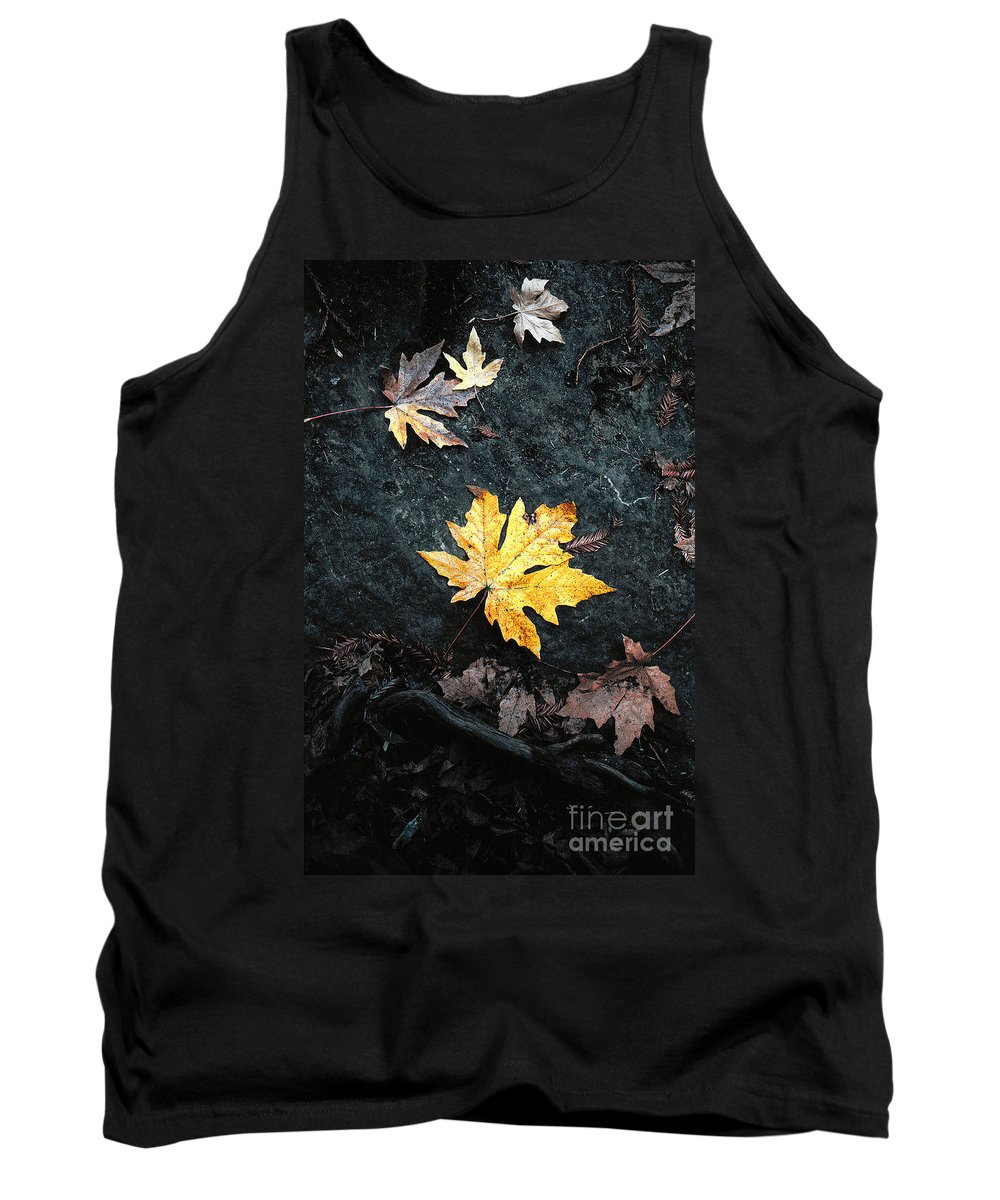 Autumn Tank Top featuring the photograph The Autumn Leaf by Mike Nellums