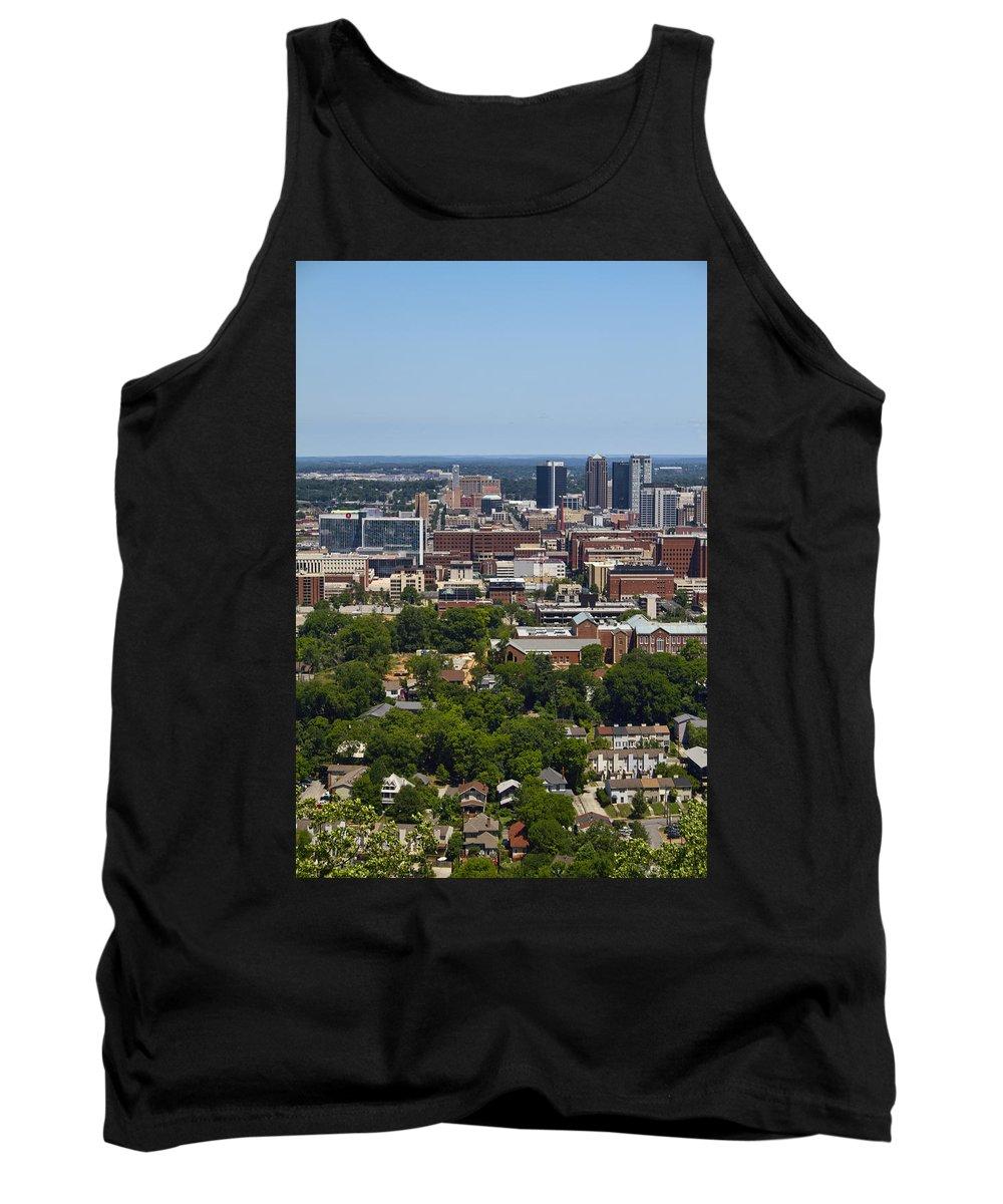 Birmingham Tank Top featuring the photograph The City Of Birmingham Alabama Usa Vertical by Kathy Clark