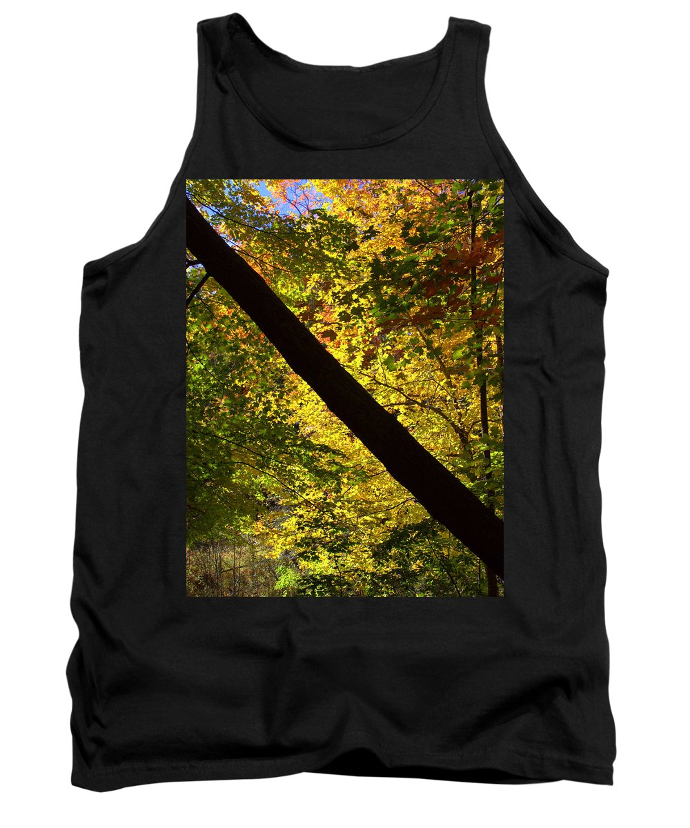 Half And Half Tank Top featuring the photograph The Fall Split by Valentino Visentini