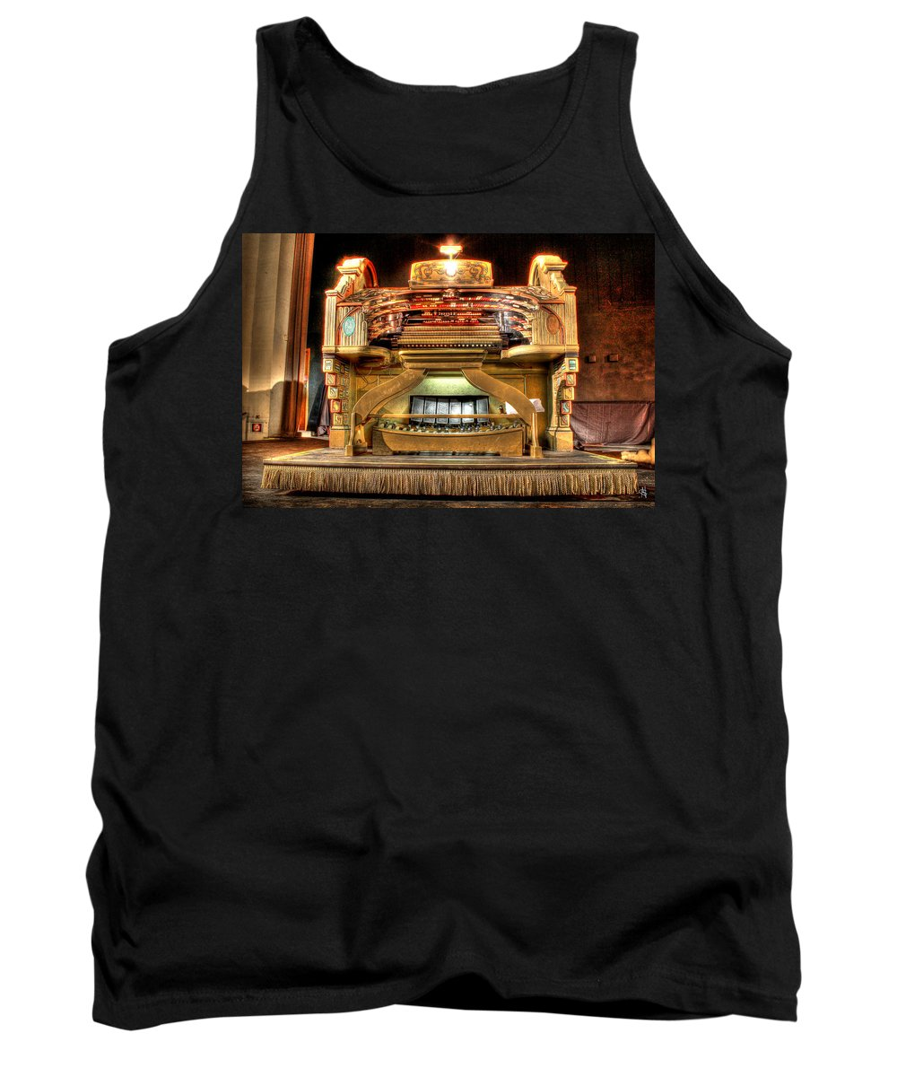 Tank Top featuring the photograph The Mighty Wurlitzer Detroit Mi by Nicholas Grunas
