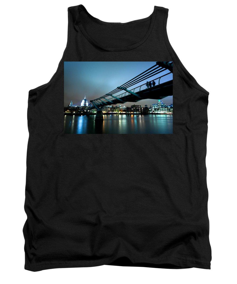 Millennium Tank Top featuring the photograph The Millennium Bridge by Andy Linden