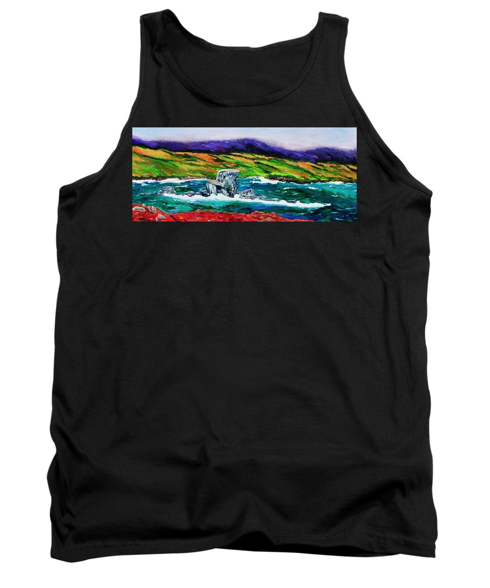 Seascape Tank Top featuring the painting The Sentinel  by Gail Daley