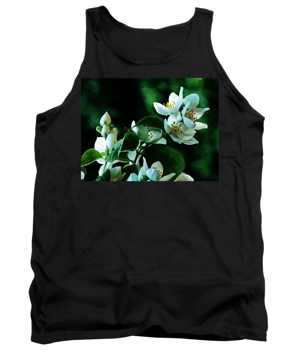 White Tank Top featuring the photograph The Soft White Blossom by Steve Taylor