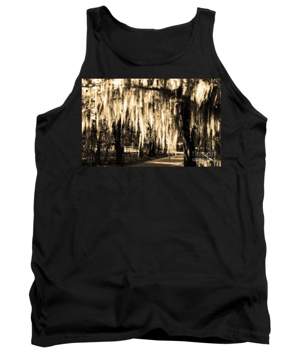 Spanish Moss Tank Top featuring the photograph The Spanish Moss by Mike Nellums