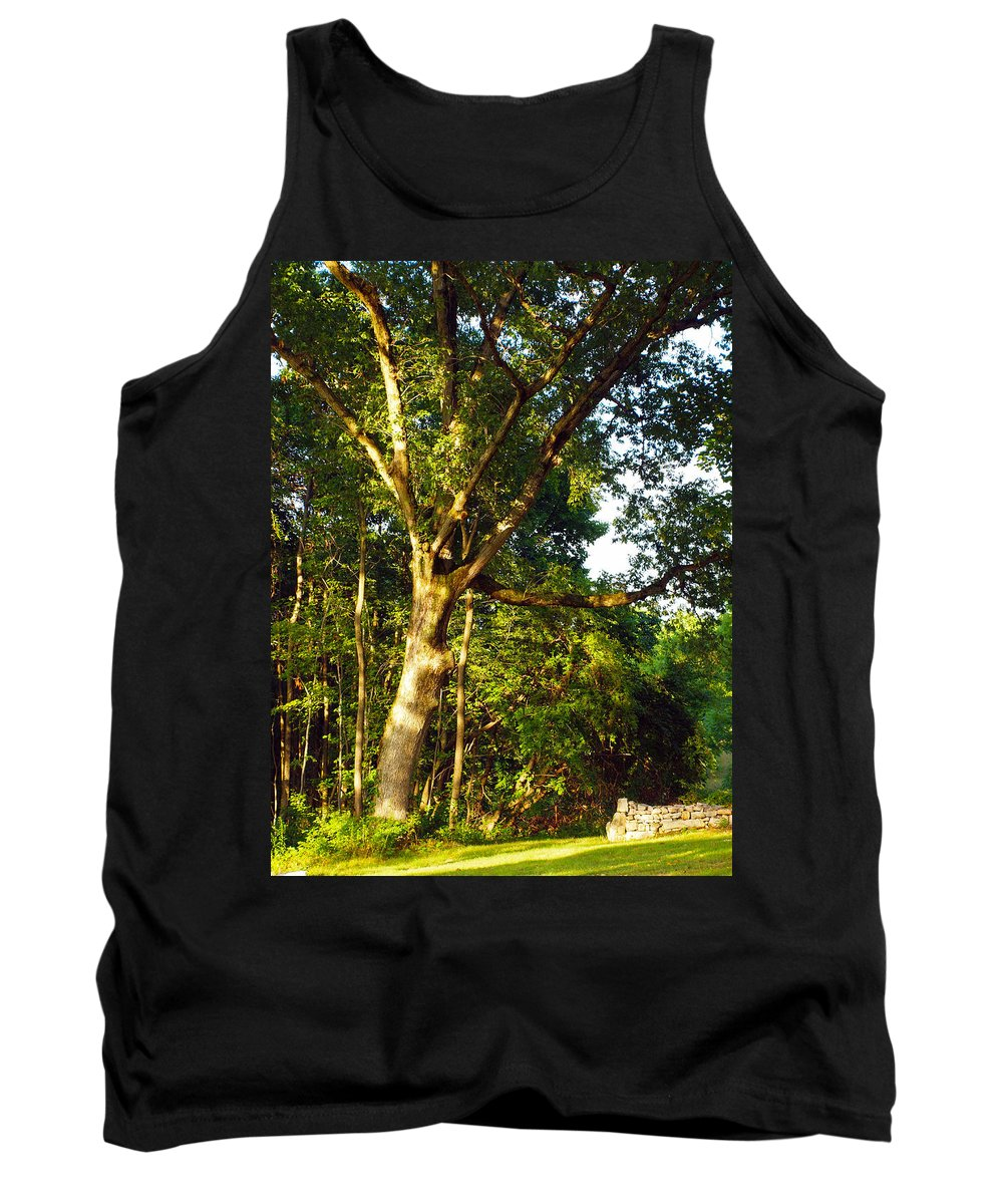 Farm Animals Tank Top featuring the photograph The Strong Tree by Robert Margetts