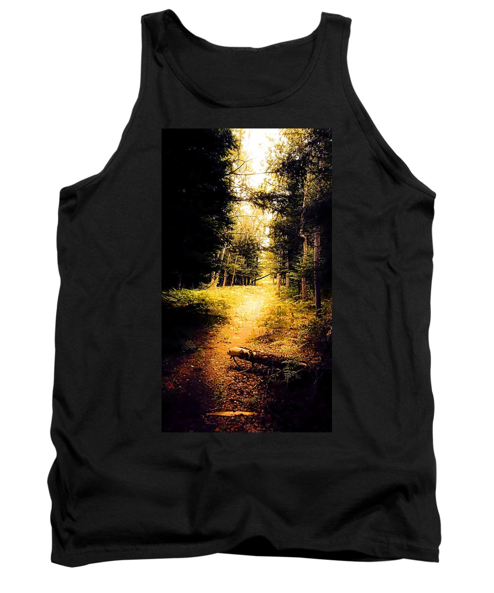 Trail Tank Top featuring the painting The Trail by Adam Vance