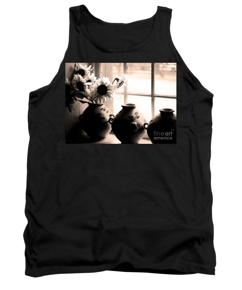 Window Tank Top featuring the photograph The Window Vases by Mike Nellums