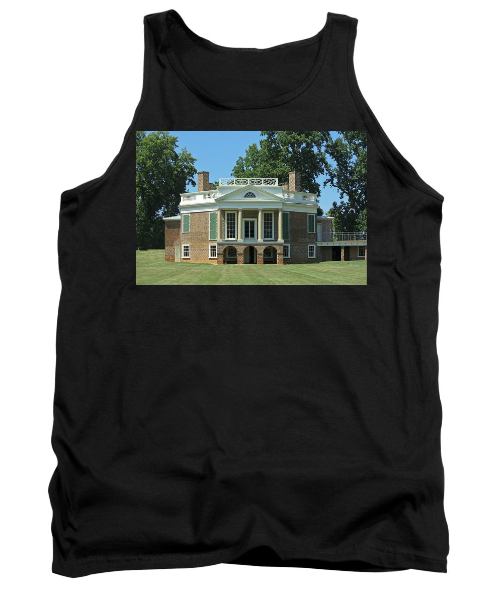 Poplar Forest Tank Top featuring the photograph Thomas Jeffersons Poplar Forest by Teresa Mucha