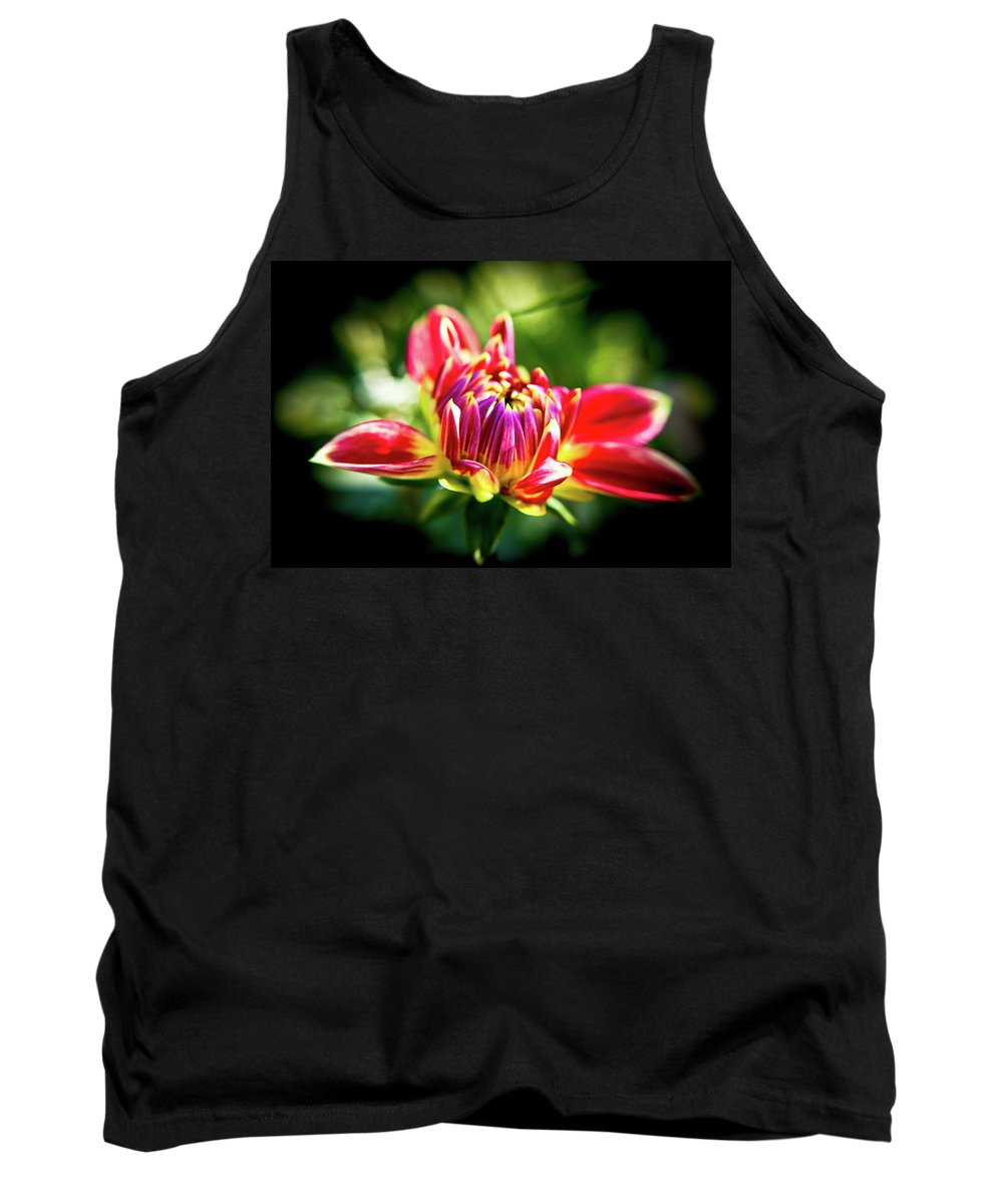 Flower Petals Tank Top featuring the photograph Through The Looking Glass by Sarah Wiggins