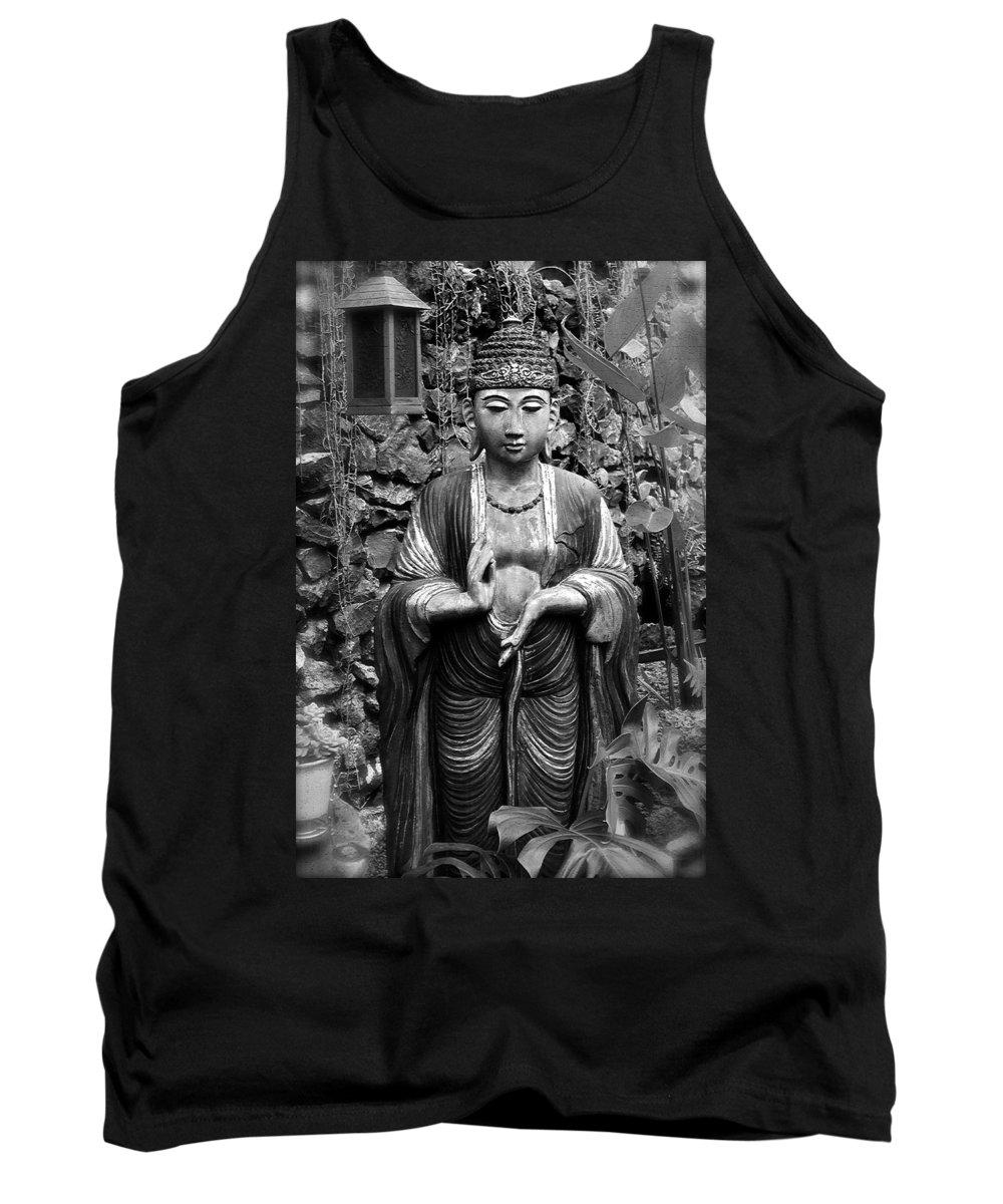 Tibetan Tank Top featuring the photograph Tibetan Buddha by Karon Melillo DeVega