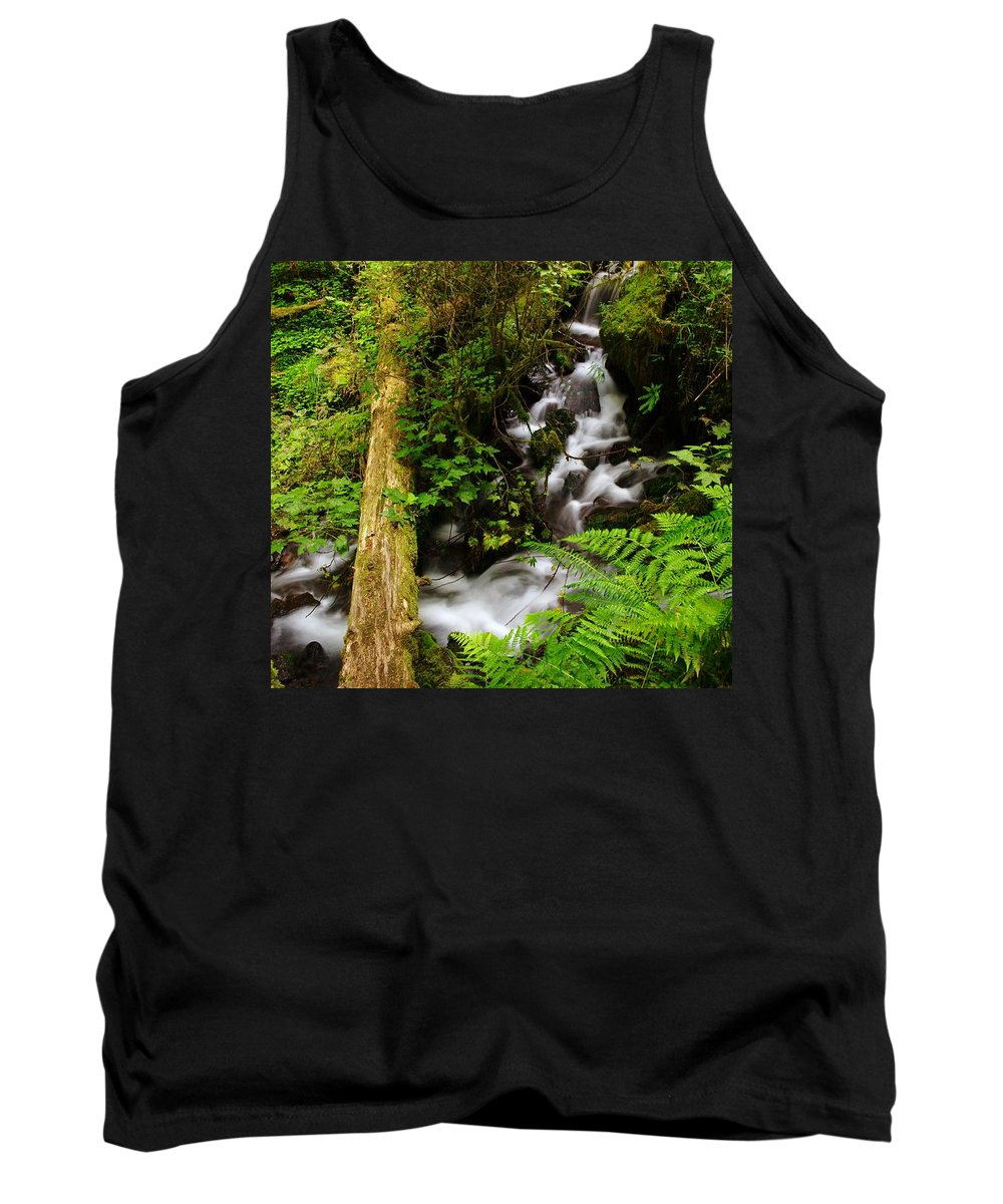 Water Tank Top featuring the photograph Tiny Water by Jeff Swan