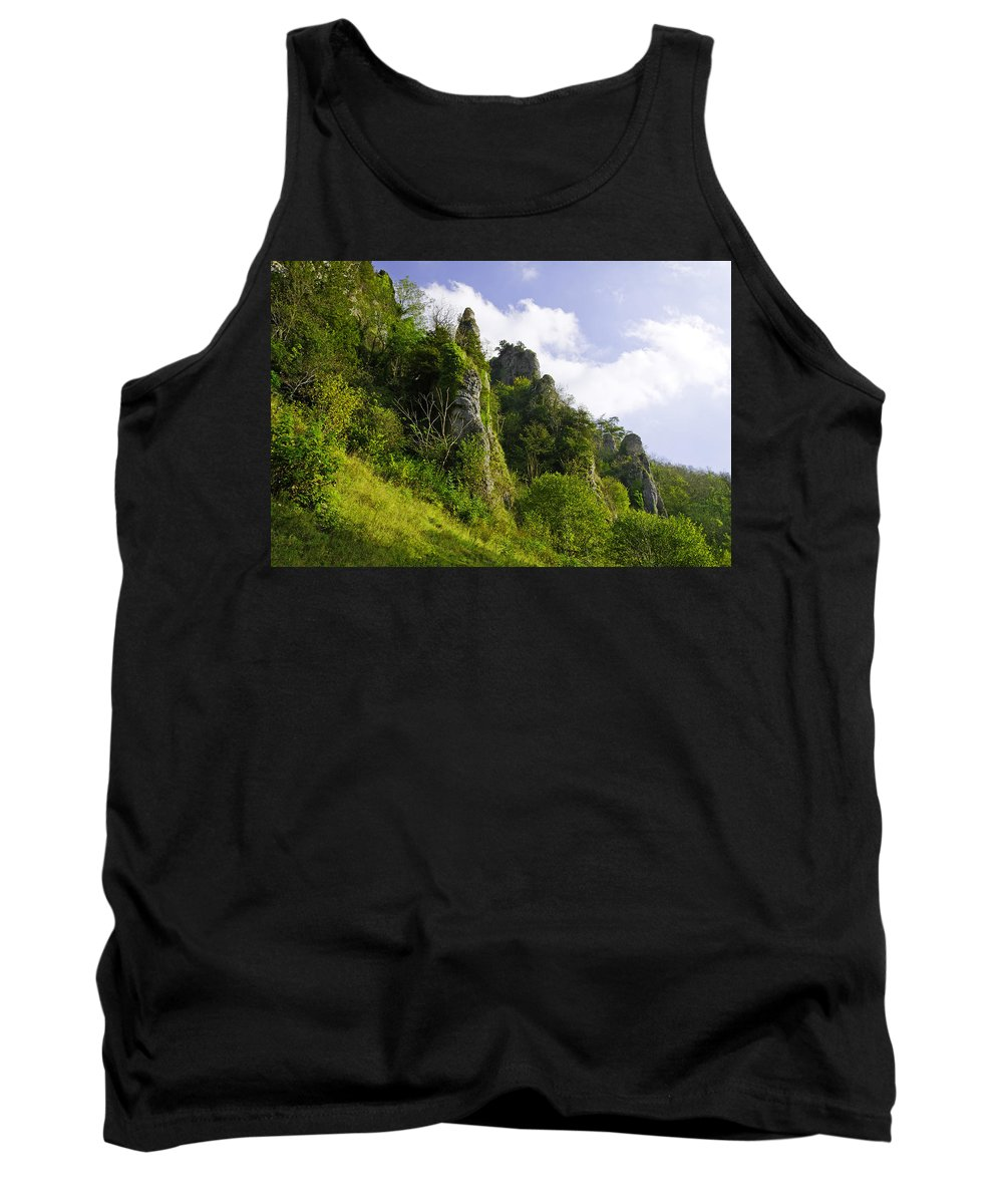 Dovedale Tank Top featuring the photograph Tissington Spires by Rod Johnson