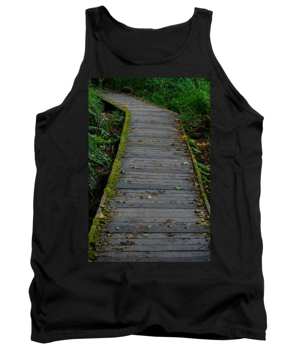 Walk Tank Top featuring the photograph Tolmie Walkway by Tikvah's Hope