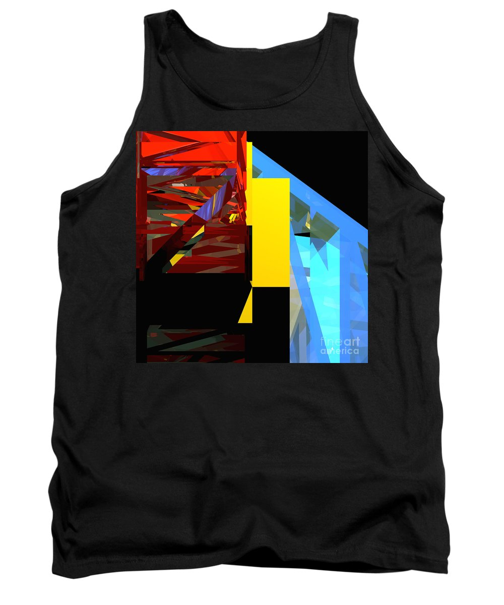 Abstract Tank Top featuring the digital art Tower Series 42 Diving Board by Russell Kightley