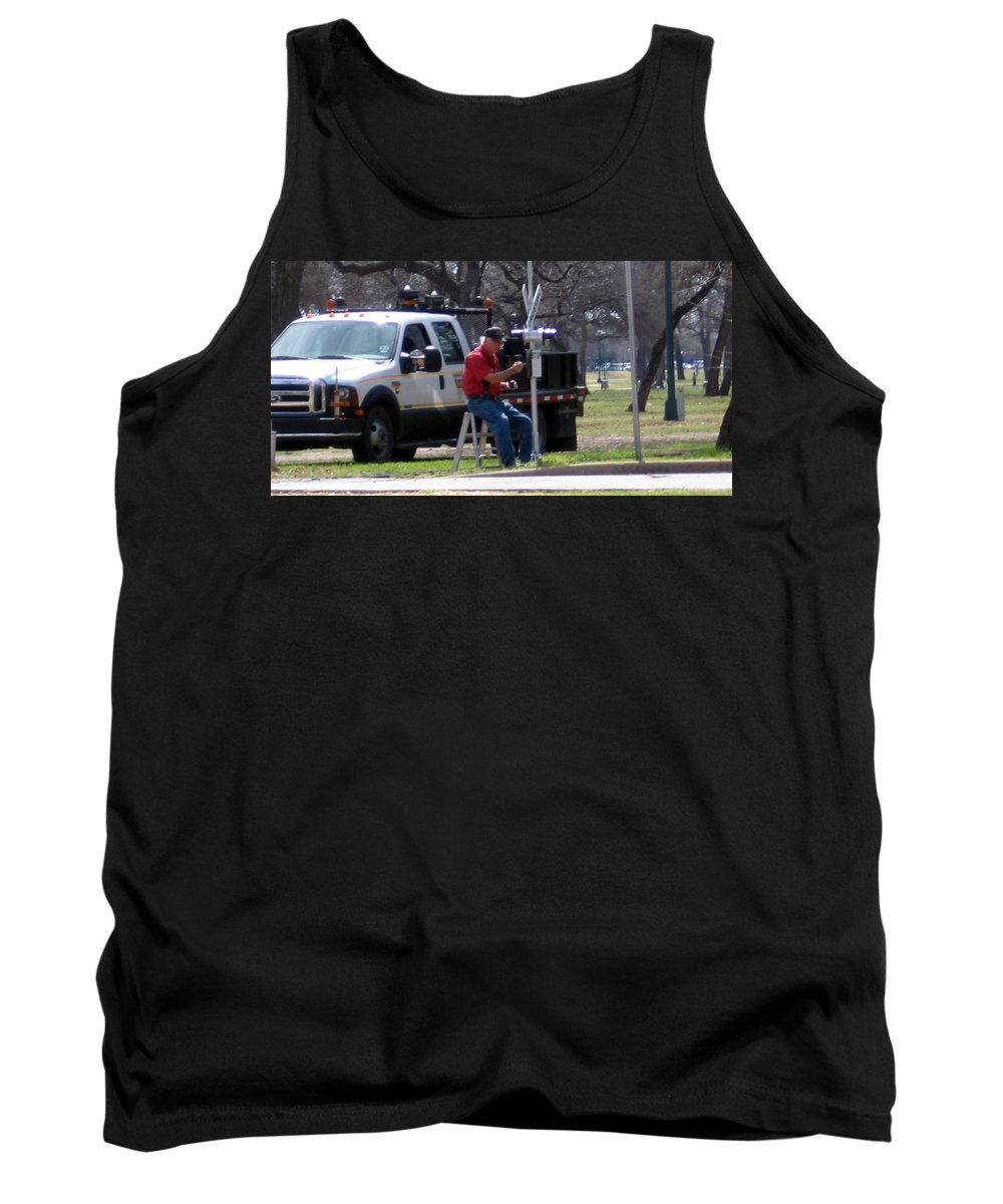 Trains Tank Top featuring the photograph Train Crossing by Amy Hosp