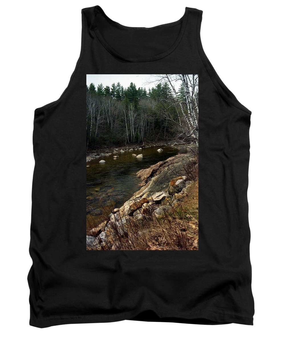 Stream Tank Top featuring the photograph Trout Fishery by Skip Willits