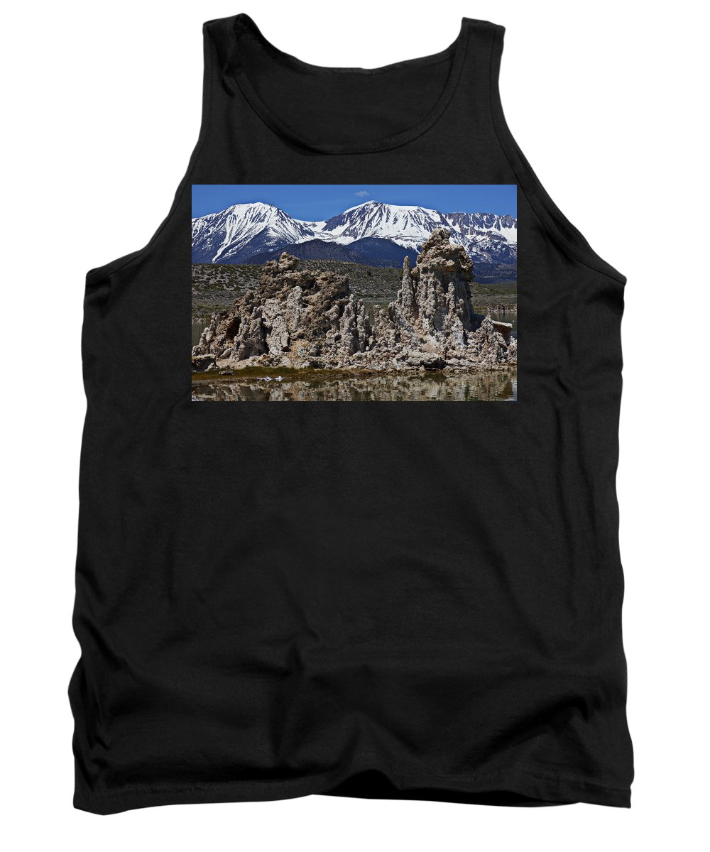 Tufa Tank Top featuring the photograph Tufa At Mono Lake California by Garry Gay