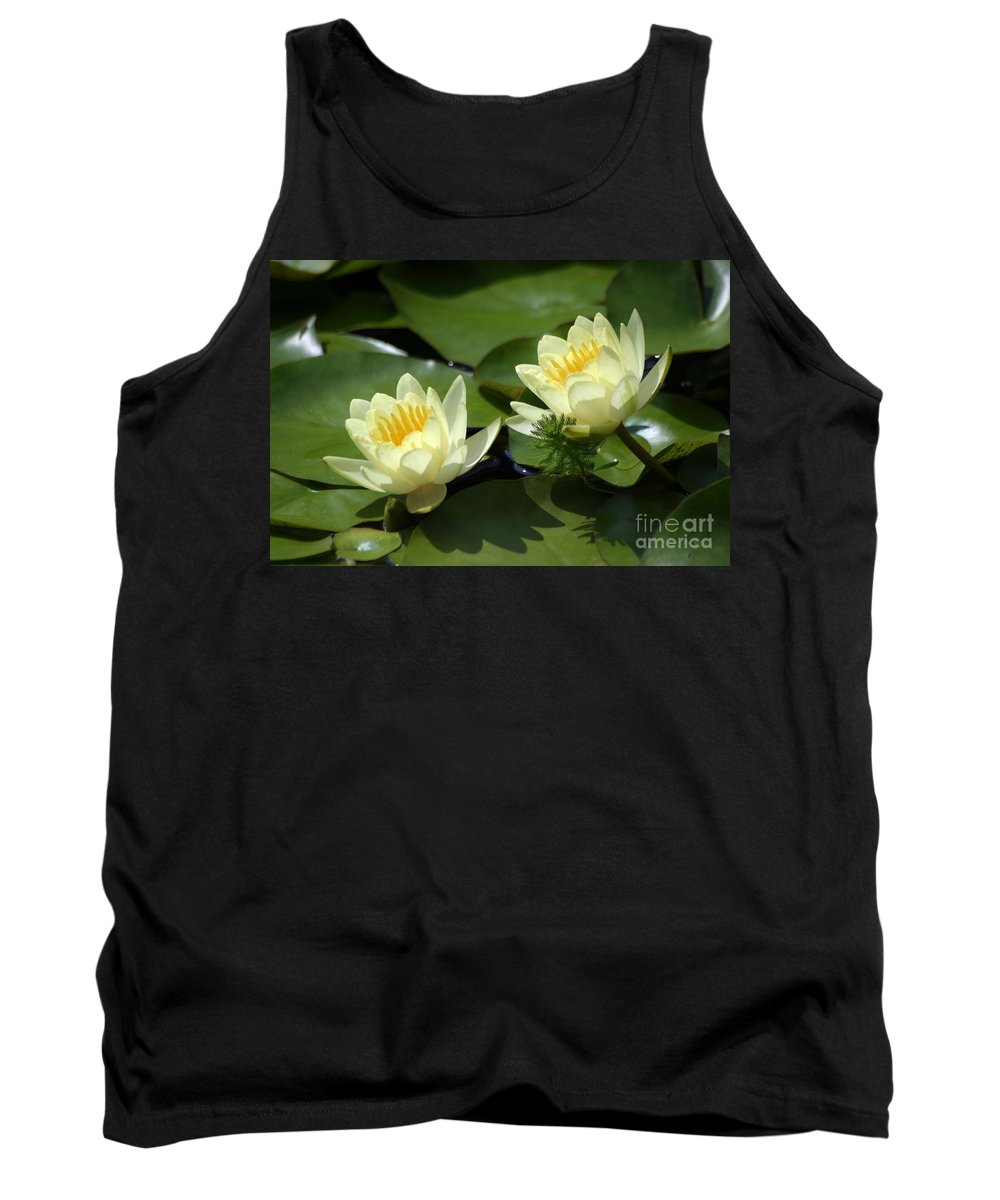 Flowers Tank Top featuring the photograph Twin Water Lilies by Living Color Photography Lorraine Lynch