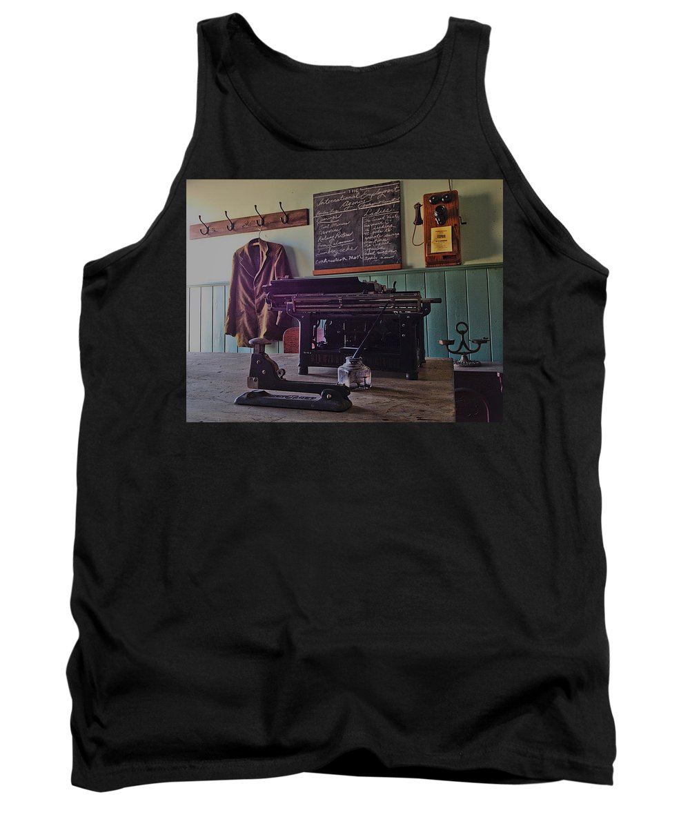 Jacket Tank Top featuring the photograph Unemployed by The Artist Project