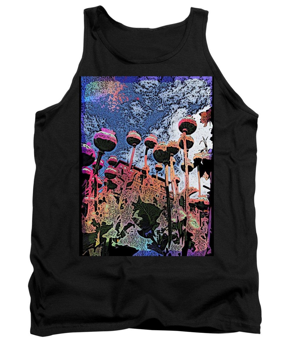 Poppy Tank Top featuring the digital art Urban Poppy by Tim Allen