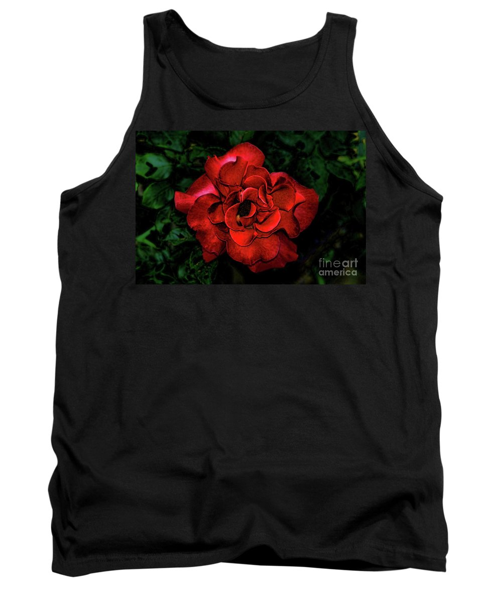 Valentine Rose Tank Top featuring the photograph Valentine Rose by Mariola Bitner