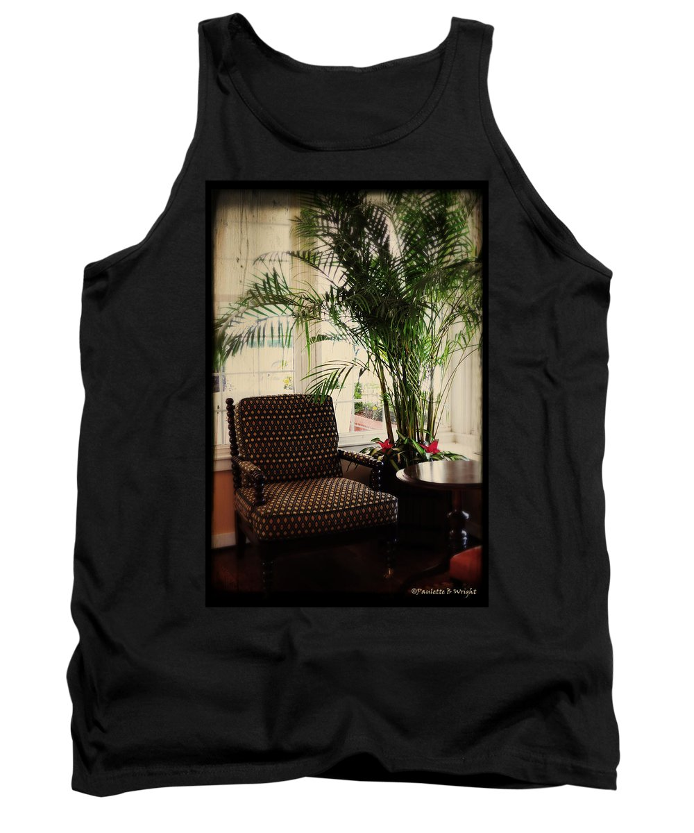 Art Tank Top featuring the photograph Victorian Reading Corner by Paulette B Wright