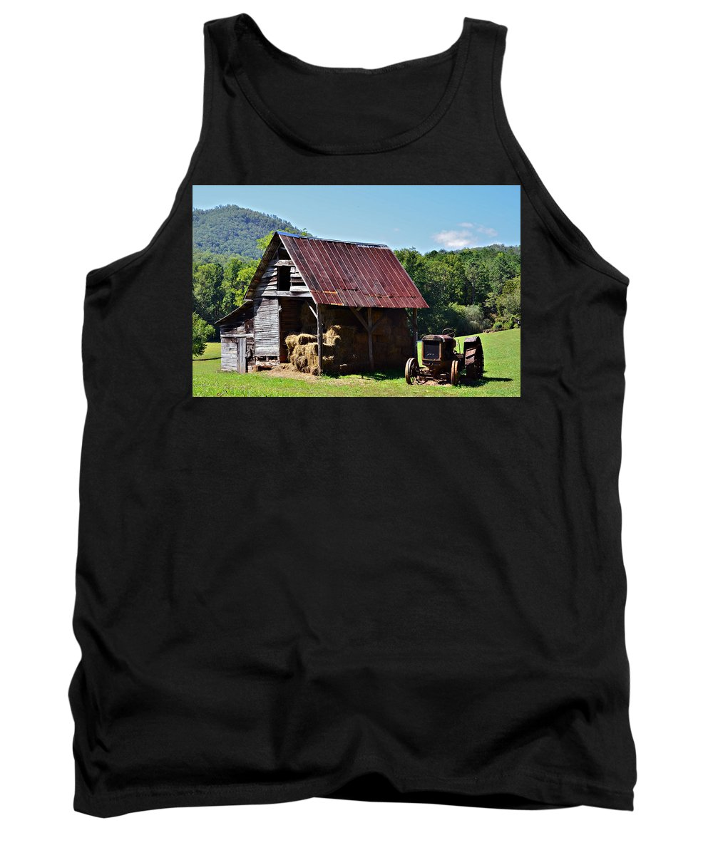 Agriculture Tank Top featuring the photograph Vintage Americana by Susan Leggett