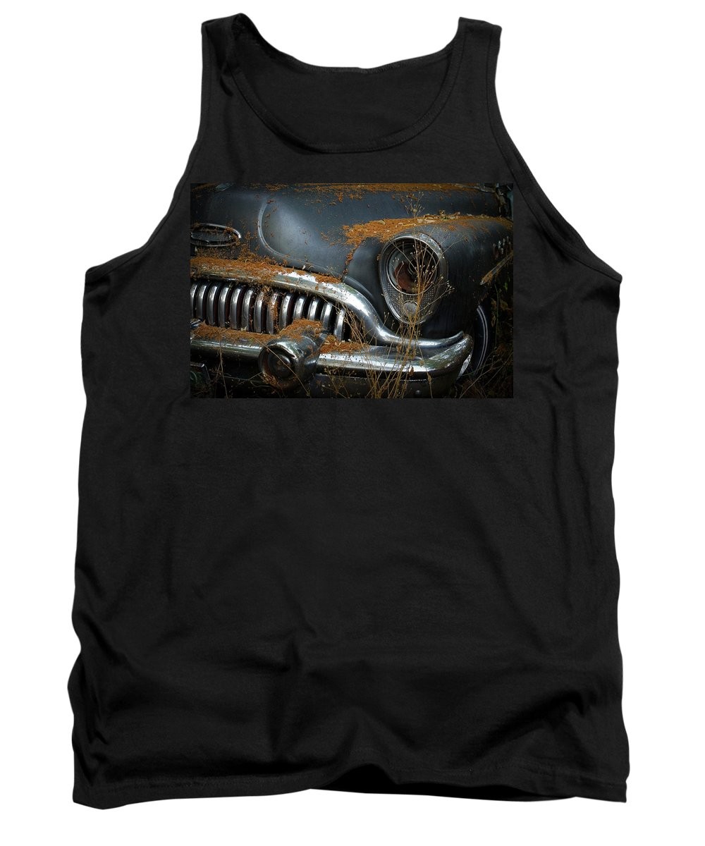 1953 Buick Tank Top featuring the photograph Vintage Buick by Steve McKinzie