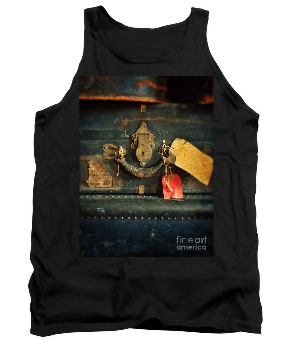 Suitcase Tank Top featuring the photograph Vintage Luggage by Jill Battaglia