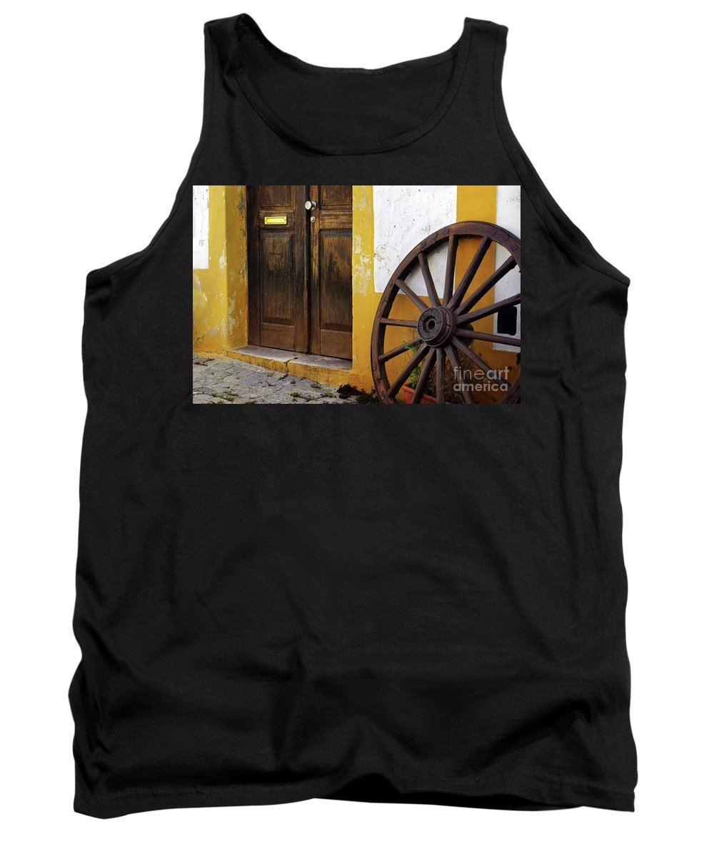 Ancient Tank Top featuring the photograph Wagon Wheel by Carlos Caetano