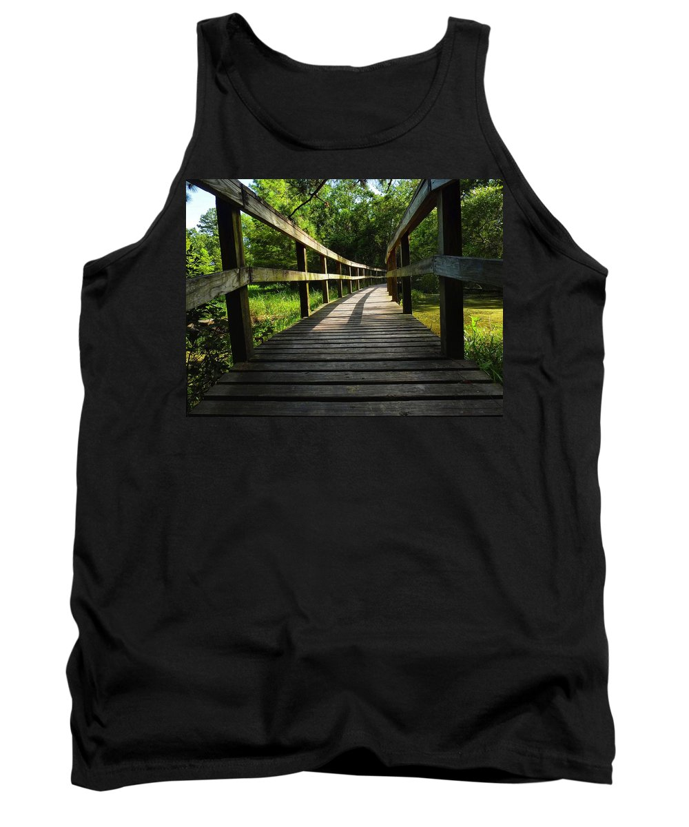 Walkway Tank Top featuring the photograph Walk This Way To Nature by Anthony Walker Sr