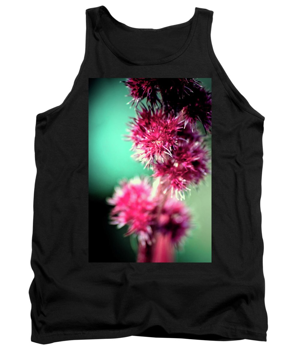 Flower Tank Top featuring the photograph Warm And Fuzzy by Sarah Wiggins
