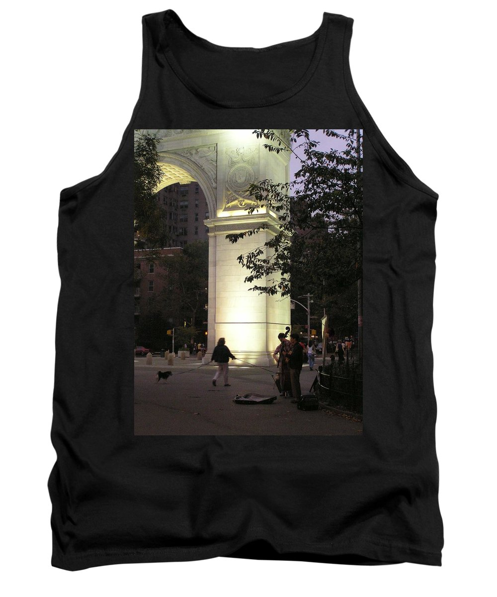 Dog Walking Tank Top featuring the photograph Washington Square Park by Stefa Charczenko