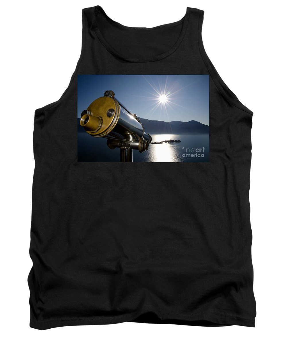 Telescope Tank Top featuring the photograph Watching With A Telescope Islands by Mats Silvan