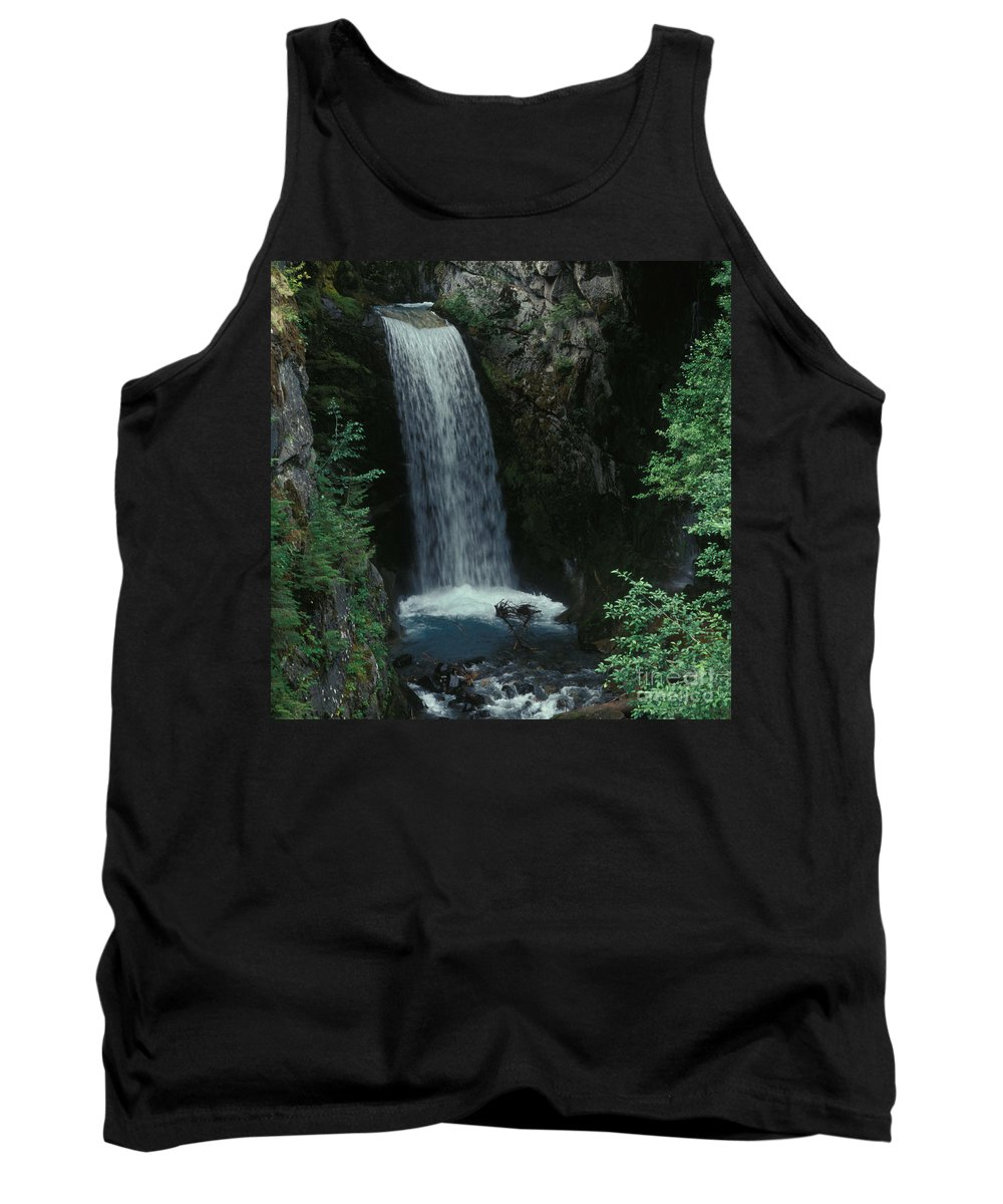 Waterfall In Canada Tank Top featuring the photograph Water Over The Bridge by Priscilla Monger