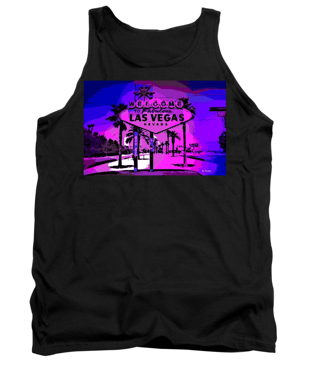 Las Vegas Tank Top featuring the photograph Welcome To Vegas No.2 by George Pedro