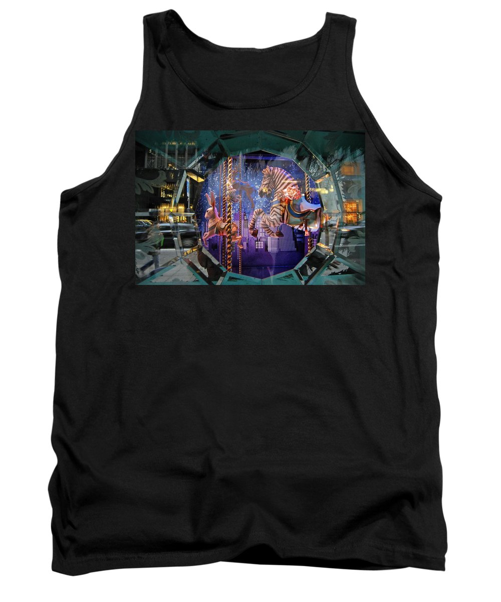 Carousel Tank Top featuring the photograph Tiffany's Carousel by Stefa Charczenko