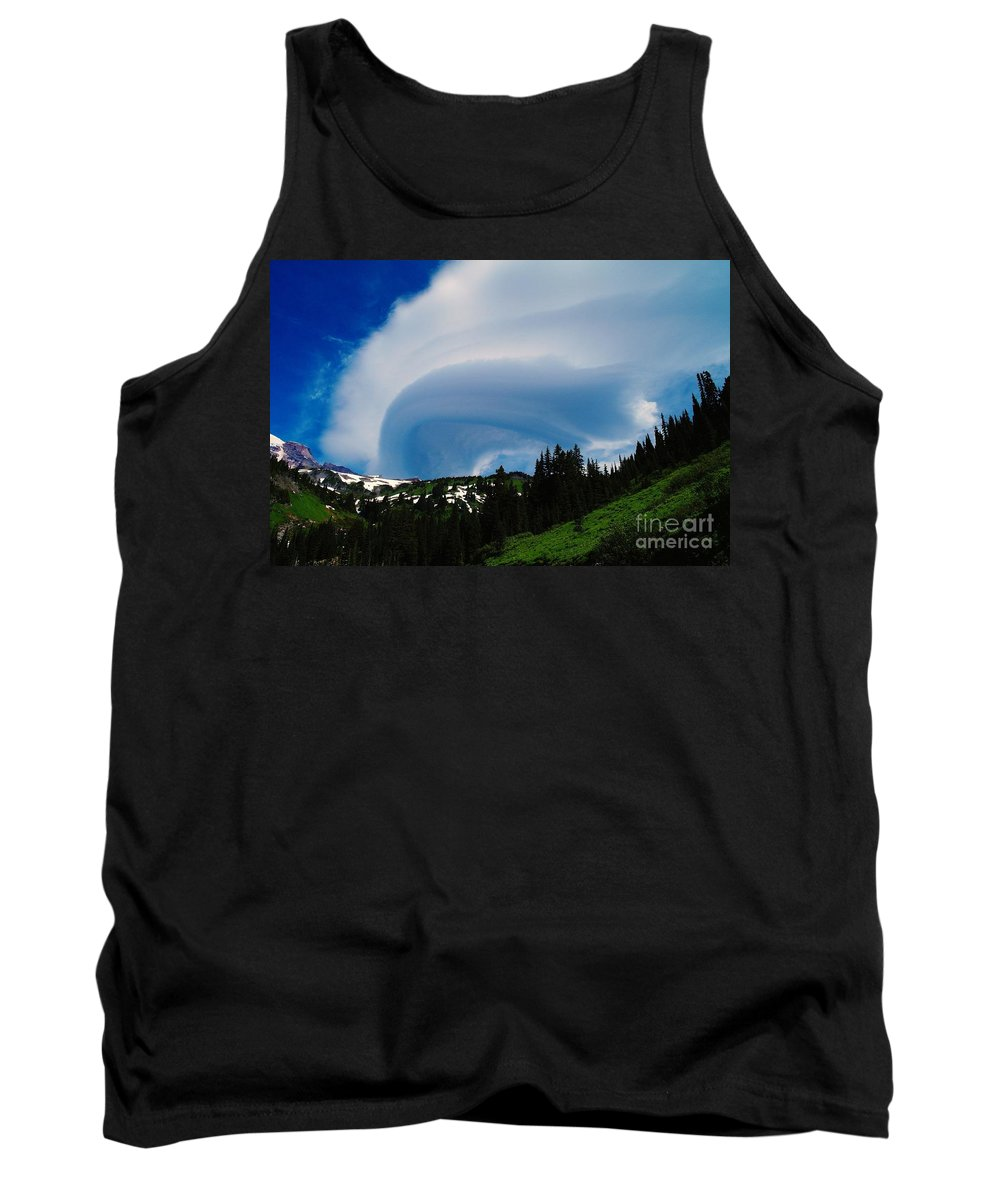 Clouds Tank Top featuring the photograph Whirling Clouds by Jeff Swan
