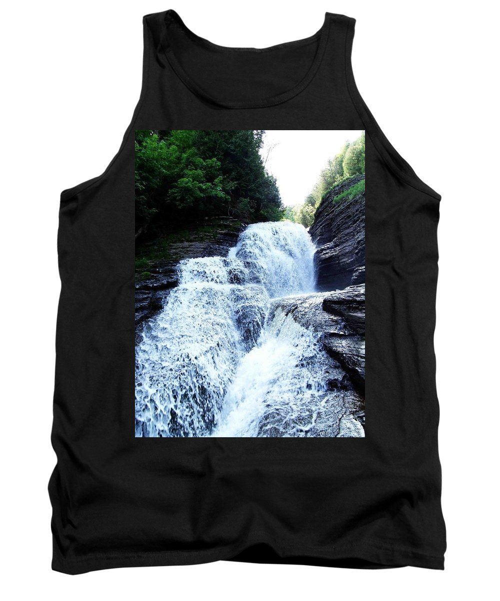Falls Tank Top featuring the photograph Whittaker Falls Ny by Dennis Comins