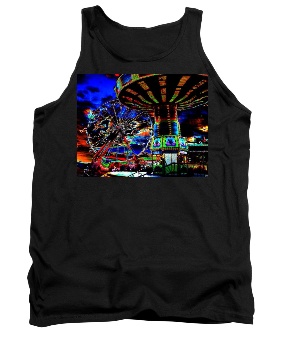Art Tank Top featuring the painting Wild Rides by David Lee Thompson