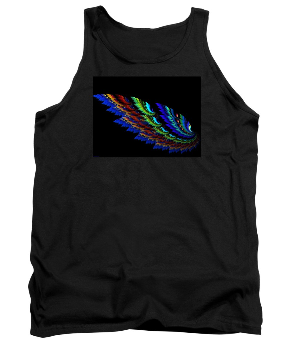 Abstract Tank Top featuring the digital art Wing by Sarah Niebank