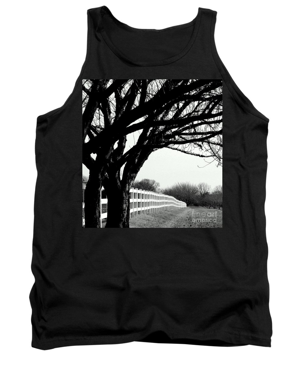 Trees Tank Top featuring the photograph Winter Cherry by Beth Phifer